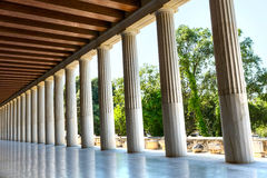 Ancient Stoa of Attalos in Athens Greece Royalty Free Stock Photography