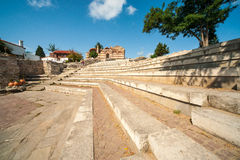Ancient stone amphitheater in the historical part of Nessebar in Bulgaria Royalty Free Stock Image