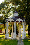 Ancient stone arbor in a monastery. In Suzdal Stock Photo