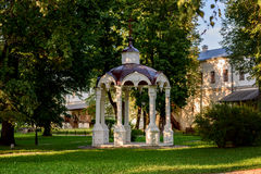 Ancient stone arbor in a monastery. In Suzdal Royalty Free Stock Image