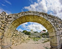 Ancient stone arch. ancient Chersonesos Stock Image