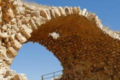 Ancient stone arch of Kerak Castle in Jordan. Ancient stone arch of Medieval Kerak Castle in Jordan Royalty Free Stock Photos