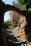 An ancient stone arch on the territory of the fortress. Turkey Royalty Free Stock Photo