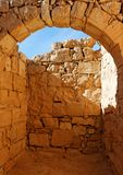 Ancient stone arch and wall Royalty Free Stock Images