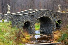 An ancient stone arched bridge royalty free stock images