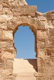 Ancient stone arched window Royalty Free Stock Image