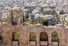 Ancient stone arches in Athens. Ancient stone remains in Athens, Greece Royalty Free Stock Photography