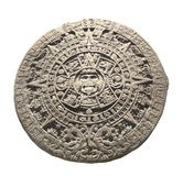 Ancient stone aztec calendar. Object isolated on white background Royalty Free Stock Image