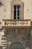 Ancient stone balcony Stock Photo