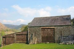 Ancient Stone Barn Royalty Free Stock Photography