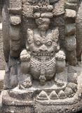 Ancient stone bas-relief, Buddist temple Borobudur, Yogyakarta. Ancient stone bas-relief with lion, Buddist temple Borobudur, Yogyakarta, Central Java, Indonesia Stock Image