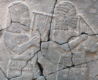 Ancient stone bas-relief of late Hittite period Stock Photography