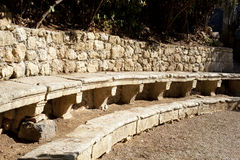 Ancient stone benches Royalty Free Stock Image