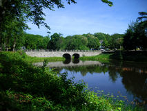 The ancient stone bridge. Image of the ancient stone bridge Royalty Free Stock Photos