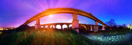 Ancient stone bridge erected Austrian Royalty Free Stock Photography