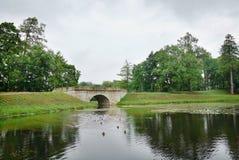 Ancient stone bridge Stock Photo