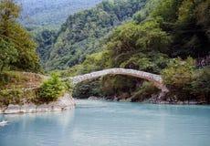 Ancient, stone bridge in Georgia - the bridge of Queen Tamara Stock Images