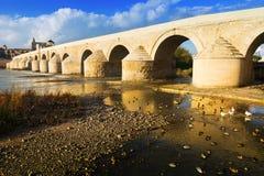Ancient stone bridge over Guadalquivir river in Cordoba royalty free stock photography