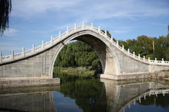 Ancient stone bridge in Summer Palace (beijing) Royalty Free Stock Photography
