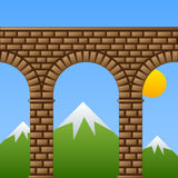 Ancient stone bridge viaduct aqueduct. See also my gallery vector illustration