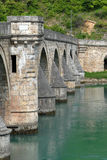 Ancient stone bridge in Visegrad. Serbia, Yugoslavia Stock Image
