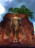 Ancient stone buddha stock images