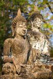 Ancient stone Buddha statues Stock Photography