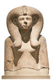 Ancient stone bust of an egyptian goddess Stock Image
