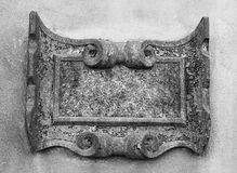 Ancient stone carved frame Stock Image