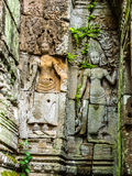 Ancient Stone Carving of Apsara Royalty Free Stock Image