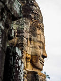 Ancient stone carving face Stock Photography