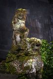 Balinese Stone Statuary at the Hindu Temple. stock photography