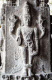 Ancient stone carvings in Varadaraja Temple Stock Photography