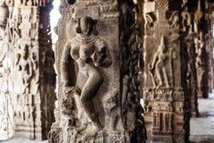 Ancient stone carvings in Varadaraja Temple Stock Photo
