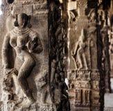 Ancient stone carvings in Varadaraja Temple Stock Image