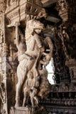 Ancient stone carvings in Varadaraja Temple Royalty Free Stock Image