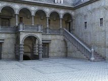 Free Ancient Stone Castle Courtyard Background Royalty Free Stock Photos - 152695498