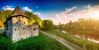 Ancient stone castle Royalty Free Stock Photo