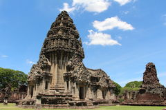 Ancient stone castle in Thailand. Phimai historical park - ancient stone castle in Thailand Royalty Free Stock Photos