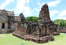 Ancient stone castle in Thailand Royalty Free Stock Photography