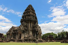 Ancient stone castle in Thailand. Phimai historical park - ancient stone castle in Thailand Royalty Free Stock Images