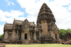 Ancient stone castle in Thailand stock photography