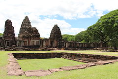 Ancient stone castle in Thailand. Phimai historical park - ancient stone castle in Thailand Stock Photography