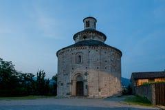 Ancient stone church Stock Photo