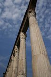 Ancient stone colonnade Stock Images