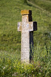 Ancient stone cross Stock Photos
