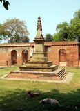 Ancient Stone Cross. In Lucknow, India. Former British residence Stock Image