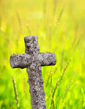 Ancient stone cross Royalty Free Stock Images