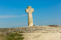 Ancient stone cross Stock Images