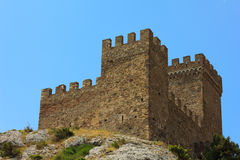 Ancient stone defensive tower Royalty Free Stock Images